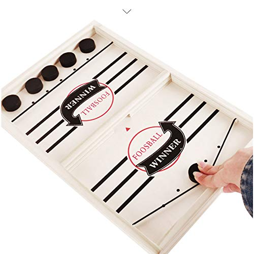 HUADADA Table Slingshot Hockey Party Game Desktop Bouncing Chess Battle Board Games for Adults or Kids 2 in 1Sports Board Game Winner Board Games Toys Party Home Interactive Games Toys