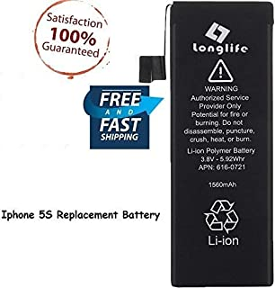 LONGLIFE Battery Replacement for Model iPhone 5S 0 Cycle - Batería de repuesto