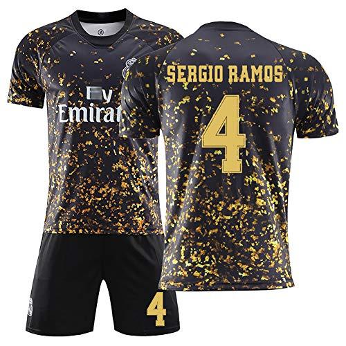 FUNBN Für Ramos 4 Kroos 8,Sommer Fußball Uniform Set, Kinder Fußball Uniform, Männer Fußball Uniform,kann angepasst Werden, Trikot + Shorts + Socken-4#-M