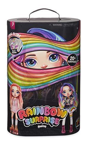 Rainbow Surprise 561095E7C Fashionpuppe mit Haaren, Zubehör und Schleim, 20 Überraschungen