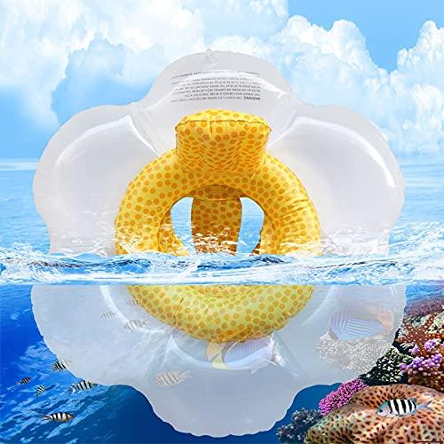 SONG Anillo de natación bebé flotadores con Asiento de Seguridad Anillos de baño Doble para bebés flotan Linda Animal Espuma Espuma Entrenamiento de natación Piscina Flotante