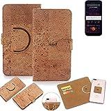 K-S-Trade® 360° Cover Cork Case For Allview Soul X5 Mini