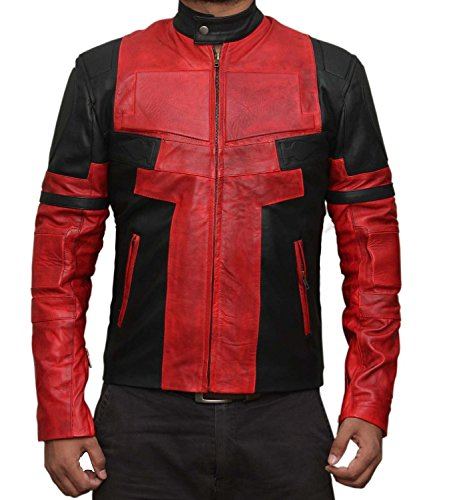 Ryan Reynolds Deadpool Jacket Costume Red and Black 3XL