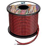 2x0.8 mm² Cable Alambres eléctrico de silicona de 2x20Metros 18awg Cable de cobre estañado trenzado sin oxígeno Resistencia a altas temperaturas 2 Conductor