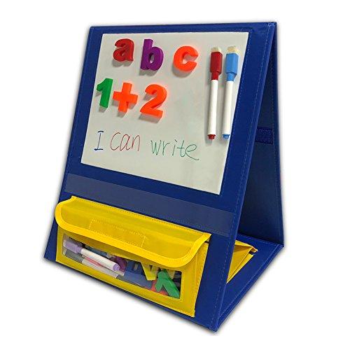 Godery - Soporte magnético para mesa de escritorio, doble cara, pequeño bolsillo gráfico para casa de clase (15 x 12,5 pulgadas)
