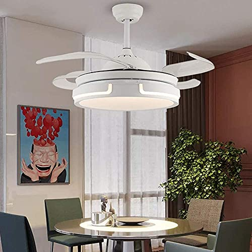 KEYREN Lámpara de Techo de la conversión de la frecuencia del LED Invisible araña, iluminación de Techo, luz Colgante de Dormitorio, Sala de Estar, lámpara Colgante Moderna, Altura Ajustable