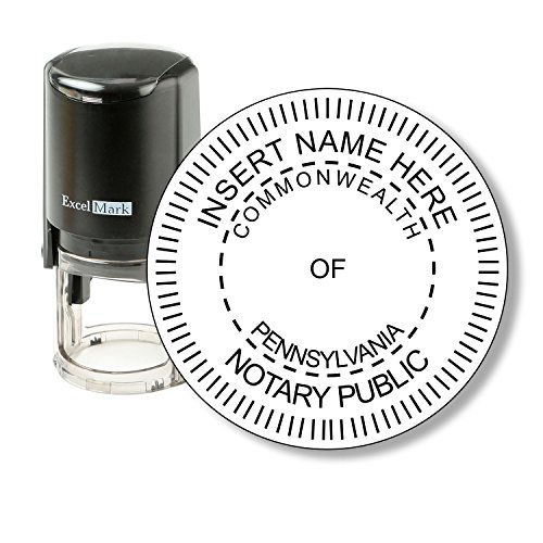 ExcelMark A-43 Self-Inking Round Rubber Notary Stamp - State of Pennsylvania