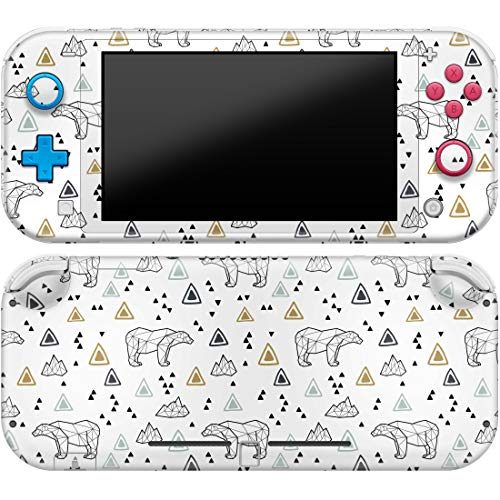 Cavka Vinyl Decal Skin Compatible with Console Switch Lite (2019) Stickers with Design Geometric Polar Bear Durable Iceberg Triangle Protector Cover Animal Faceplate Abstract Wrap Print Full Set