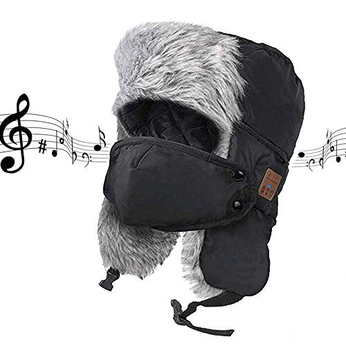 Wireless Bluetooth Hunting Hat, Winter Weatherproof Hat Cap, Trapper Trooper Hat Smart Hunting Headphone Hat for Fitness Outdoor Sports, Unique Christmas Tech Gifts for Teen Young Boys Girls Men Women