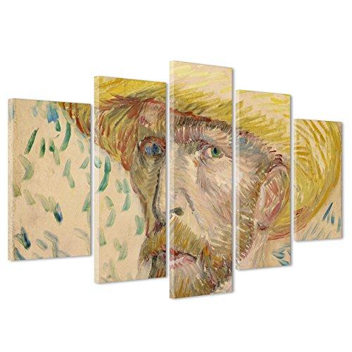 ConKrea QUADRO op canvas CANVAS - ingelijst - klaar om op te hangen - Van Gogh - Self-portrait in roze - autoradio in roze