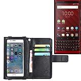 K-S-Trade Wallet Case Flip Cover For Blackberry KEY2 Red