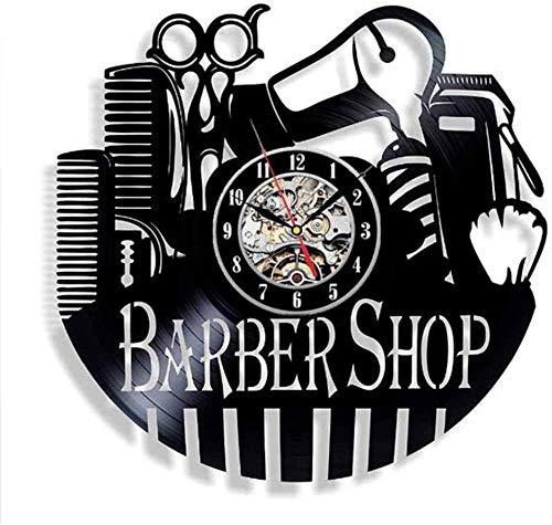 YJTGZ Barber Bag Tool Bag Belt Vinyl Record Clock Sèche-Cheveux Ciseaux Peigne Cadeau À La Main pour La Coiffure