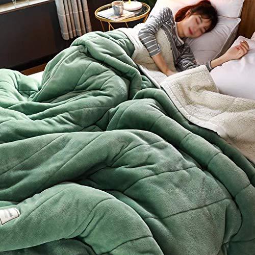 GFDFD Cama de Manta cálida para el Aula con Manta Gruesa Manta de Lana Invierno Invierno Colcha para Adultos (Size : Small)
