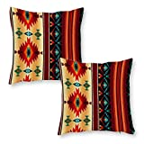 YIRONGCG Southwestern Decorative Throw Pillow Covers 18x18 Inch(2 Pieces) Super Soft Couch Pillow Case Throw Toss Pillowcase Cushion Cover Set Cushion Case for Chair Sofa Bedroom Car