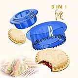 Yumkt Sandwich Cutter and Sealer Sandwich Maker Sandwich Decruster Sandwich for Kids Child Gifts,Blue