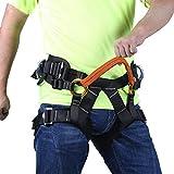 ZWWZ Klettergurt, Sicherheit Half Body Harness Fallschutz Fallschutzausrüstung Taille Hüfte Schutzgürtel for Baum Klettern Berg Higher Level Caving Abseilen HAIKE (Color : Orange, Size : 70)