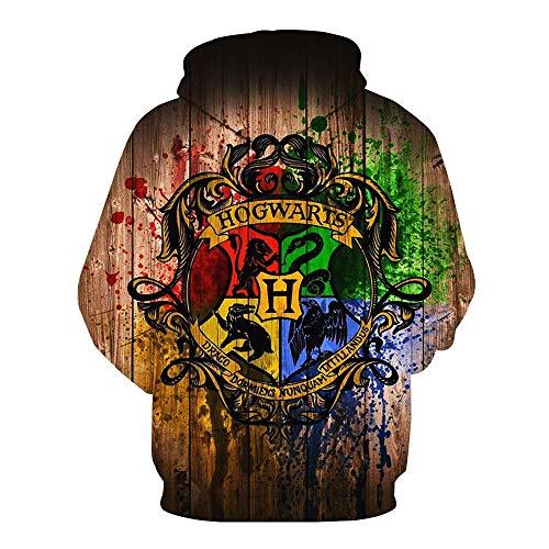Harry Potter Impresión 1379d Sudadera con Capucha de animecon Capucha Sudaderas Pullover Streetwear con Capucha Casual Suave Cosplay Ropa Casual de Moda