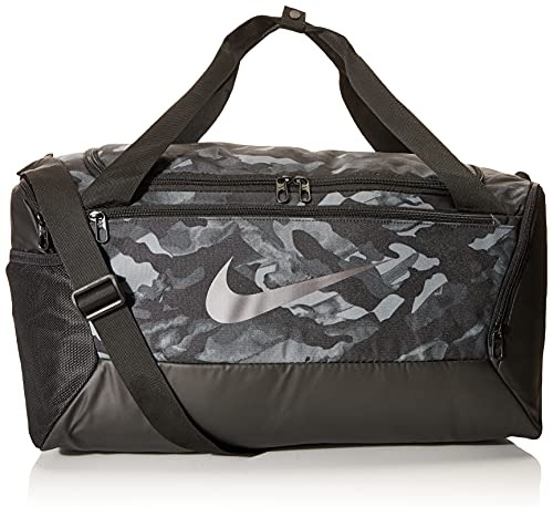 Nike Brasilia Sporttasche Unisex, Lt Smoke Grey/Black/MTLC Cool, One Size