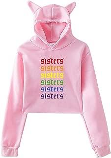 Women's Sisters Rainbow James Charles Hoodies Sweatshirt Cat Ear Crop Tops
