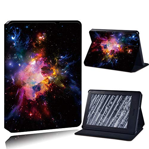 Case Cover For Kindle,Leather Pu Anti-Fall Tablet Case For Kindle Paperwhite 1/2/3/Paperwhite(5Th/6Th/7Th/10Th)/For Kindle (10Th /8Th)6 Inch + Stlyus /Colorful Universe/Anti Dust Fashion Accessories,