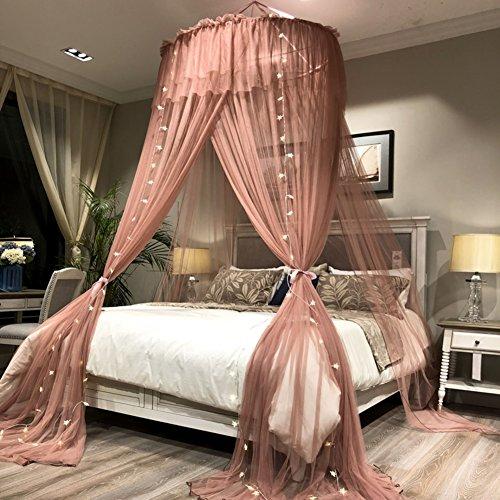 ADQIAO Decke Dome moskitonetz, Doppelbett Prinzessin betthimmel, Europäische Runde Betthimmel -B 200cm(79inch)