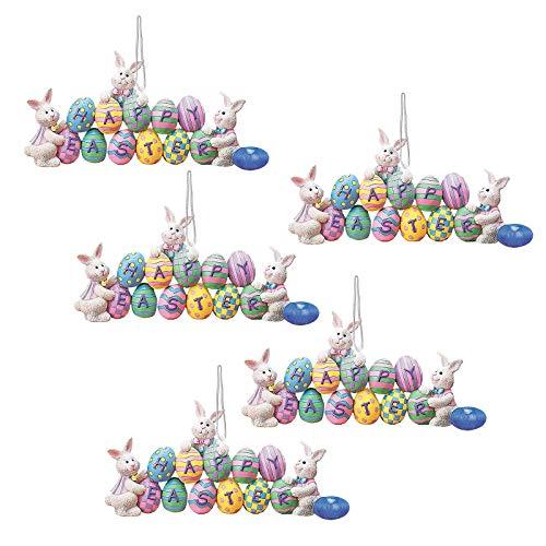 Uova di Pasqua Decorative, Uova di Pasqua Decorazioni, 50 Pezzi Uova Pasquali da Appendere, Artigianato Fai da Te di Pasqua, per La Decorazione e Regalo, pasqua decorazioni casa