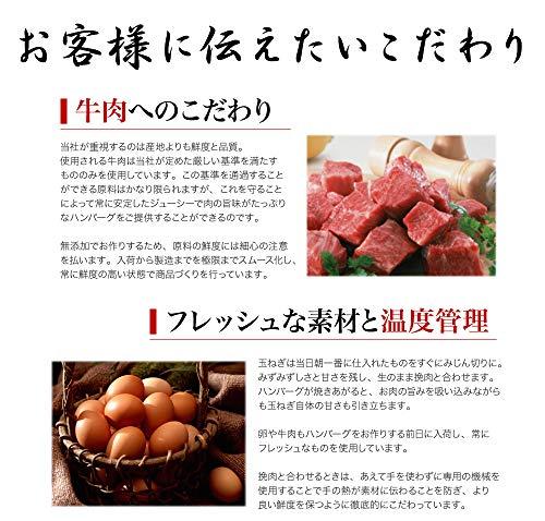 牛肉100%無添加こだわりハンバーグ【北海道産の玉葱を使用】120g×10個(1.2kg)/真空個包装牛肉本来の美味しさにこだわった本物志向の方に冷凍発送化学調味料・合成保存料・合成着色料不使用
