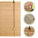 Tende A Rullo in bambù,Protezione Solare Avvolgibili,Tapparella Filtraggio della Luce,Tende Privacy per Interni,Isolamento Termico/Traspirante,Facile da Installare,70x140cm/28x55in