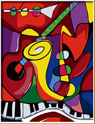 Nobranded Pintura Al Óleo por Números Música Abstracta De Fama Mundial De Picasso DIY Pintado Cuadros Pintura De La Lona Living Room Arte del Hogar Regalo 40X50Cm