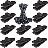 Sudopru Tarp Clips Heavy Duty Lock Grip, 20 Pack Tarp Clamps Heavy Duty, Shark Tent Fasteners Clips Holder, Pool Awning Cover Bungee Cord Clip, Car Cover Clamp