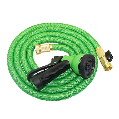 adhere to Fly 25 ft/50 Ft extensible Magic Flexible Jardin Eau tuyau buse 8 Motif Pistolet d'arrosage de jardin 50FT vert