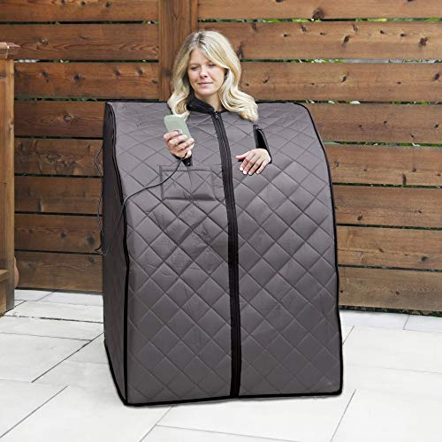 HeatWave BSA6310 Rejuvinator Portable Sauna, 38 Inch, Gray