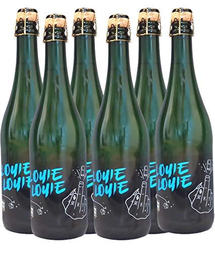 Louie Louie Sekt, perfekt auch als Geschenk, Winzersekt trocken brut 11,5%, aus Qualitätsweinen aus Württemberg, Set aus 6 Flaschen Winzersekt (6 x 0,75 l)