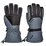 Gordini Men's Gore-Tex Gloves Cold Weather & Wind Snowboard & Skiing Adjustable Straps Keeping Waterproof Insulated Warm for Winter (Large)