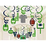 Anor Wishlife 30Ct American Football Hanging Swirl Decorations - Football Super Bowl Game Day Decorations,Sport Game Day Party Supplies