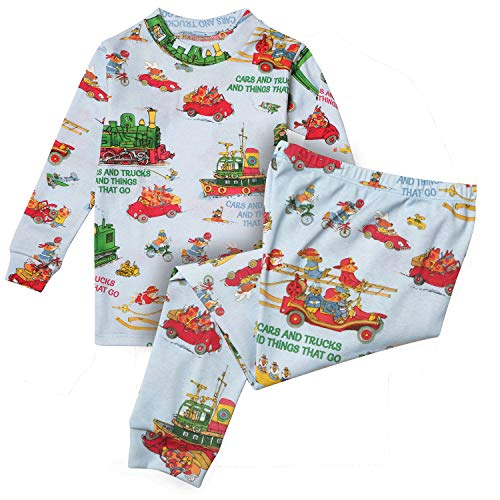 Books to Bed Children's Richard Scarry's Cars & Trucks & Things That Go Pajamas - 5