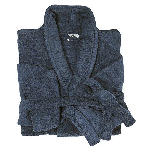 Dunkelblauer Bademantel aus Baumwollfrottier von Abraxas in bergren bis 10 XL, Gre:6XL Blau