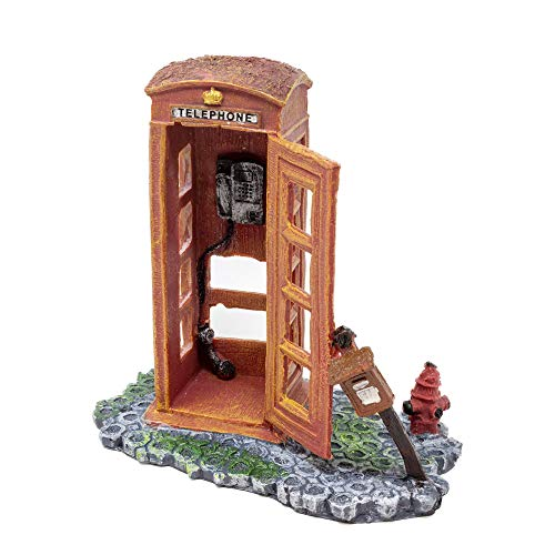 All Pond Solutions Rot London Phone Box Fisch Tank Aquarium Ornament