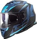 LS2 FF800 Storm Racer Matt Blue Negro Azul M