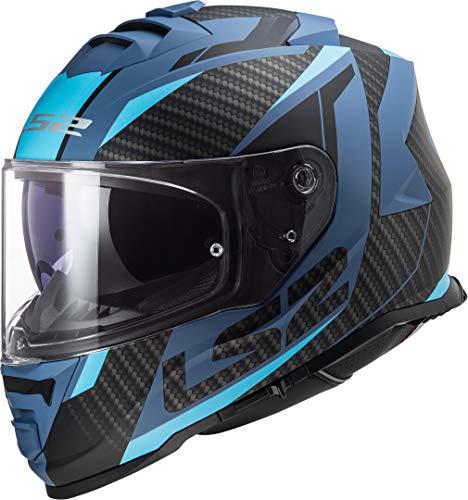 LS2 Motorradhelm FF800 STORM RACER MATT BLUE, Schwarz/Blau, XL, 108002122XL