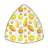 Posavasos para bebidas, juego de 6 posavasos de diamante para inauguración de la casa, regalo de anfitriona, cocina, bar, decoración, fruta, plátano, naranja, papaya limón