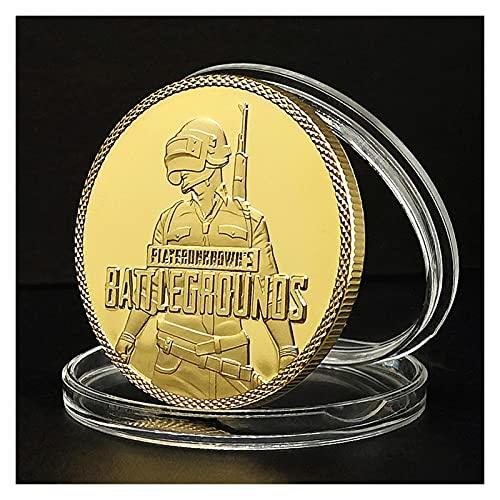 DEALBUHK PUBG Lucky Coin PlayerunkNown's BattleGrounds Juego COMPETITITIVE Moneda de Oro Moneda de Plata Moneda Conmemorativa (Color : B)