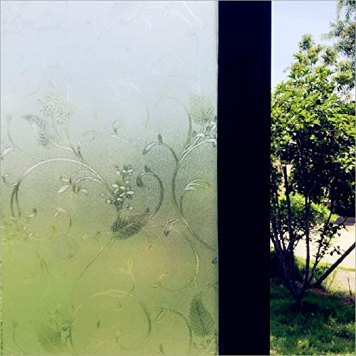 LMKJ Vine flower electrostatic self-adhesive film, opaque privacy protection, anti-ultraviolet, reusable frosted window sticker A98 50x200cm