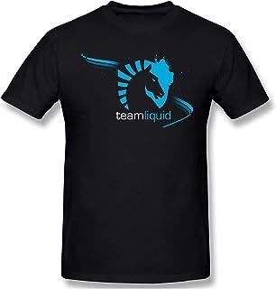 Man Graphic Printing Liquid Team Sport Tee Shirt