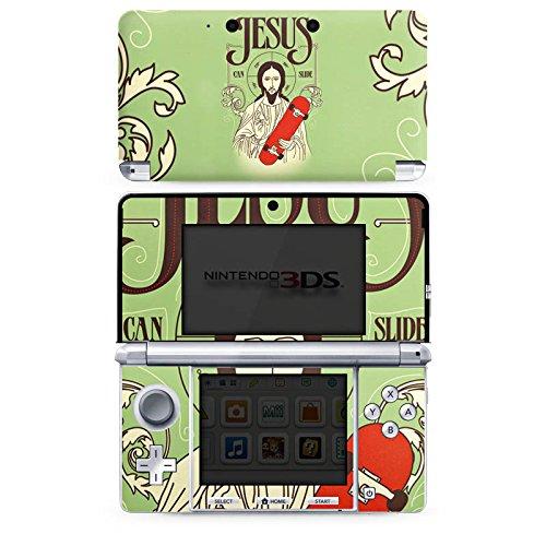 DeinDesign Skin kompatibel mit Nintendo 3 DS Aufkleber Sticker Folie Jesus Skateboard Lustig