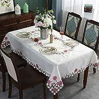 テーブルランナーキッチン ウェディングパーティーイベントのためのテーブルランナーのパック宴会ダイニングテーブル装飾ホワイトレース刺繍入りテーブルランナーテーブルクロス、ホワイト (Size : 60*60cm)