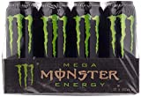 12 Dosen a 553ml Mega Monster Energy Dose Energy Drink inc.3,00€ Einweg Pfand grün