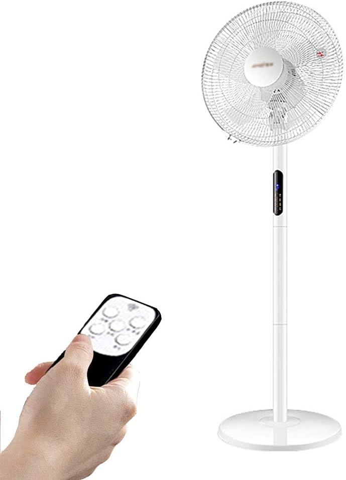 Oscilante Ajustable Ventilador de Pedestal de Pie de 16 Pulgadas para Uso En Interiores, Salas de Estar, Oficinas y Dormitorios Universitarios, con Mando A Distancia Temporizador de 7.5 Horas 20 DB Ne