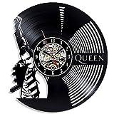 FDGFDG Rock Band Reloj de Pared Diseño Moderno Tema de la música Relojes de Registro de Vinilo clásicos Reloj de Pared Arte Decoración para el hogar Regalos para músicos