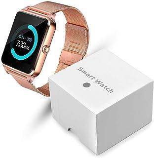 YWSZY Reloj Inteligente Pantalla Táctil Led Bluetooth Deporte Música Multifunción Correa De Acero Reloj Inteligente Reloj Reloj Relogio Feminino